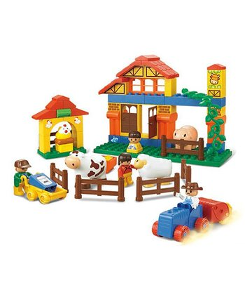 Big Blocks Happy Farm Cow Ranch Blocks Set