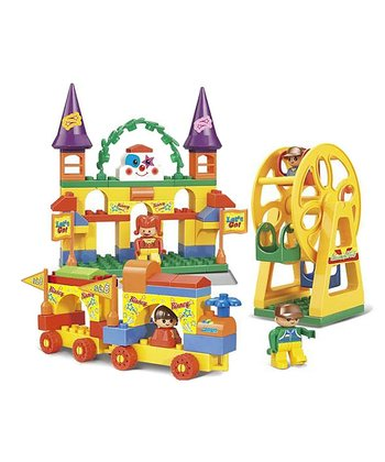 Big Blocks Amusement Park Laughing Clown Blocks Set