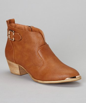 Tan Linda Ankle Boot