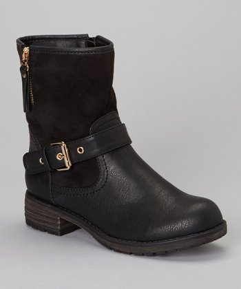 Black Buckle Jayda Boot