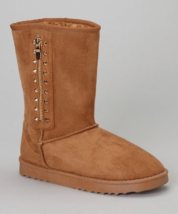 Tan Studded GG Boot