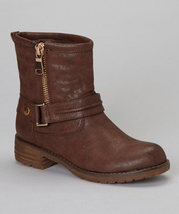 Brown Zip-Up Jayda Boot