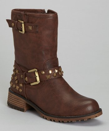 Brown Studded Jayda Boot