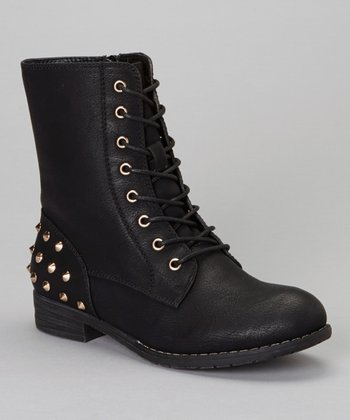 Black Studded Sky Boot