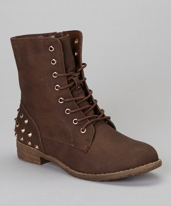 Brown Studded Sky Boot