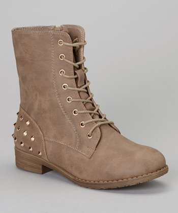 Khaki Studded Sky Boot