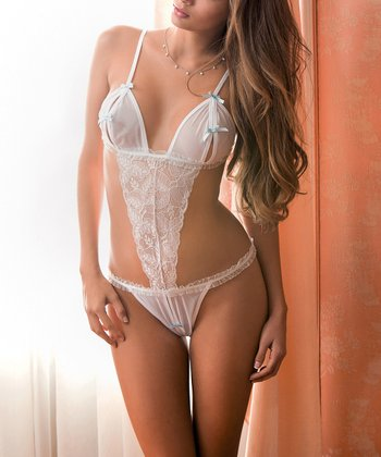White Lace Teddy - Women