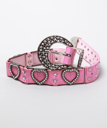 Hot Pink Heart Belt