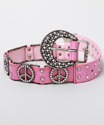 Hot Pink Peace Belt