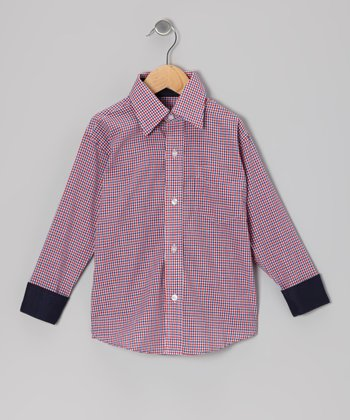 Red & Blue Plaid Button-Up - Toddler & Boys