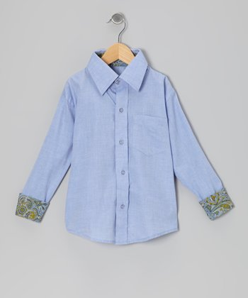 Blue Oxford Button-Up - Toddler & Boys