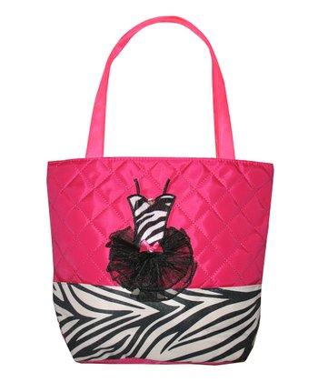 Hot Pink Zebra Tote Bag