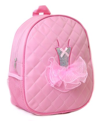 Pink Tutu Quilted Backpack