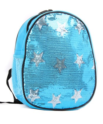 Turquoise Sequin Star Backpack
