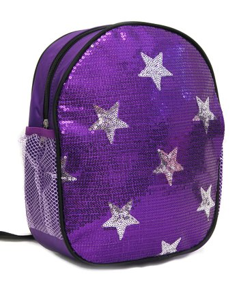 Purple Sequin Star Backpack