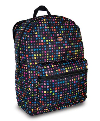 Black & Pink Dot Student Backpack