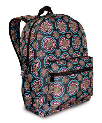 Brown & Blue Starburst Student Backpack