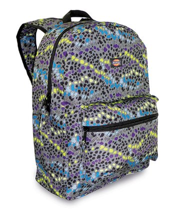 Gray & Yellow Cheetah Student Backpack