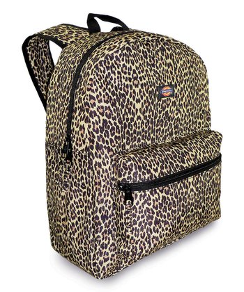 Brown Cheetah Student Backpack