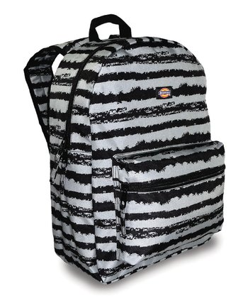 Black & Gray Stripe Student Backpack
