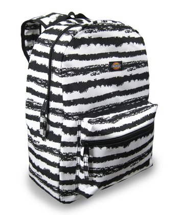 Black & White Stripe Student Backpack
