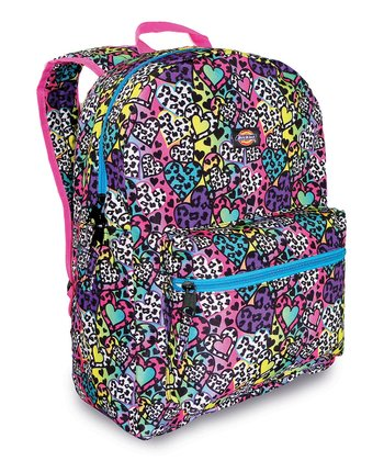 Purple & Blue Hearts Student Backpack