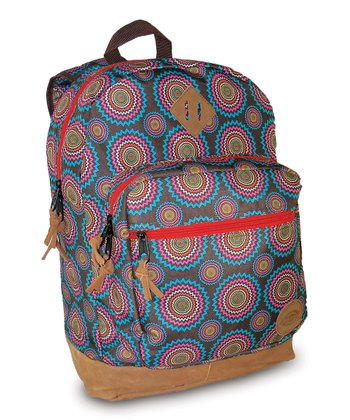 Brown & Blue Starburst Venice Backpack