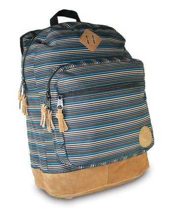 Navy & Tan Stripe Venice Backpack