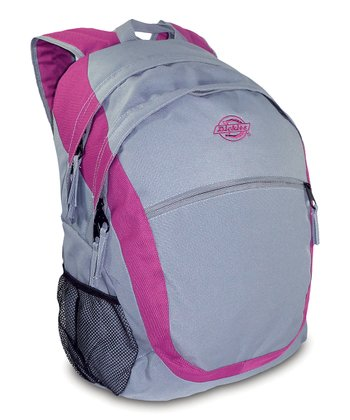 Gray & Pink Sport Backpack
