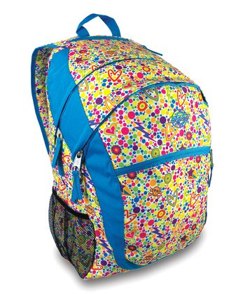 Blue & Yellow Dot Sport Backpack