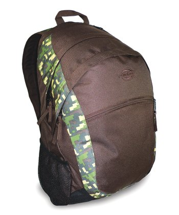 Brown & Green Sport Backpack