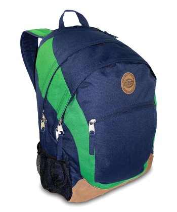 Navy & Green Sport Backpack
