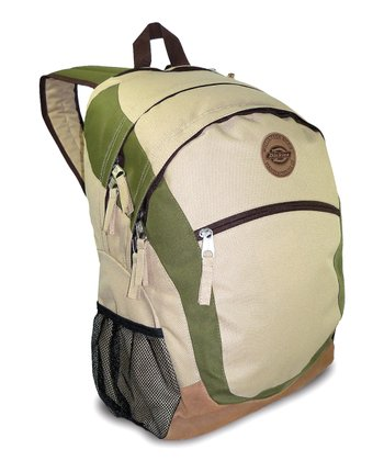 Cream & Olive Sport Backpack