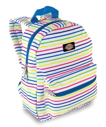 Blue & Yellow Stripe Mini Backpack