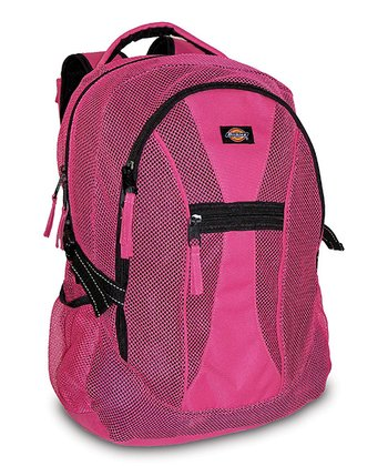 Pink Mesh Backpack