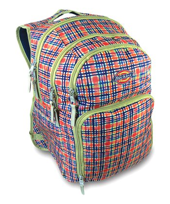 Pink & Blue Plaid Backpack