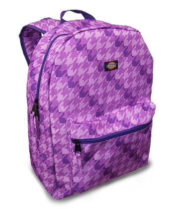 Purple Houndstooth Student Backpack