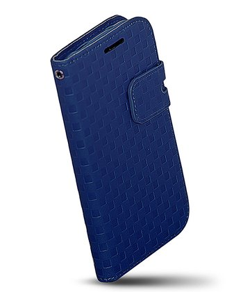 Blue Folio Wallet Case for Samsung Galaxy S4