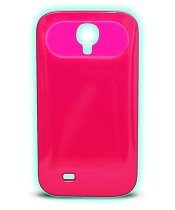 Pink Glow-in-the-Dark Case for Samsung Galaxy S4