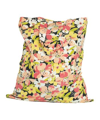 Black Sadie Floral Shopper