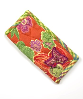 Orange & Fuchsia Joyful Eyeglass Case