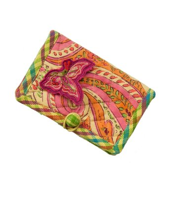 Orange & Fuchsia Joyful Business Card Case