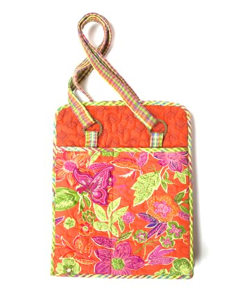 Orange & Fuchsia Joyful Laptop Bag