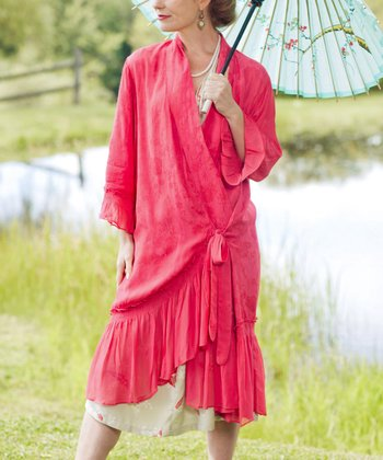 Dark Pink Cherie Dressing Gown
