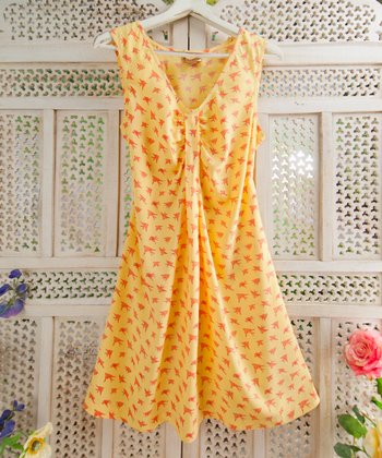 Yellow Swallow Dress