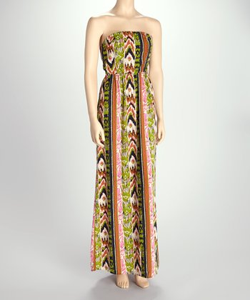 Green Tribal Maxi Dress