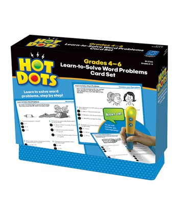 Word Problems Grades 4 to 6 Hot Dots Card Set