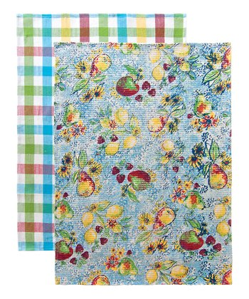 Abby Plaid Tea Towel - Set of Two
