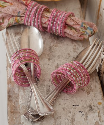 Rose Bangle Napkin Ring - Set of Four
