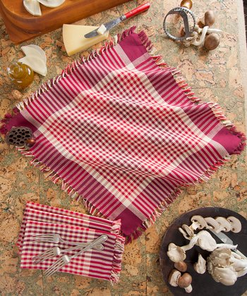 Red Gingham Plaid Napkin - Set of Four